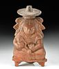 Maya Jaina Pottery Effigy Rattle - Mother and Child