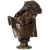 Jean-Baptiste Auguste Clesinger, French Bronze Bust of Jesus Christ, Barbedienne