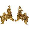 Pair of French Louis XV Style Gilt Bronze Ormolu Chenets, circa 1880