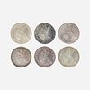 Twenty U.S. Seated Liberty 50C Coins