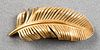 Tiffany & Co. 14K Yellow Gold Feather Brooch
