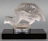 R. Lalique Clear Glass Pintade Hood Ornament