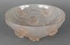 R. Lalique France Deco Frosted Glass Floral Bowl
