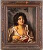 """KPM """"Portrait of a Boy"""" Porcelain Plaque"""