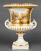 KPM Porcelain Monumental Topographical Urn, 19th C