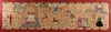English Pictorial Embroidered Folk Art Tapestry