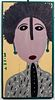 """Mose Tolliver """"Portrait of Woman"""" Outsider Art"""