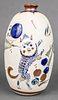 Mexican Animal Motif Ceramic Vase Signed Santana