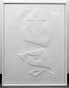 """Angelo Savelli """"From a Square"""" Embossed Lithograph"""