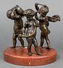 Musical Cherubs Bronze Figural Group Sculpture