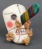Mexican Folk Art Polychrome Wood Mask