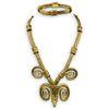Zolotas 18k Gold Ram Head Necklace and Bracelet