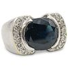18k Gold, Sapphire and Diamond Ring