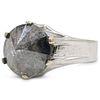 3ct Salt and Pepper Reverse Diamond Ring