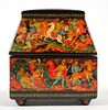 Prince Igor—Russian Lacquer Casket—Signed—Kholuy