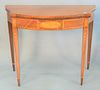 """Federal style mahogany inlaid game table, ht. 29"""", top 35"""" x 36"""""""