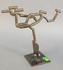 """Andrew Chambers (20th C.), Soaring, Mid-century bronze sculpture, initialed and dated '81' on the base, 11 1/2"""" x 12 1/2"""" x 4 1/2""""."""