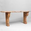 Two Règence Style Painted Faux Marble Consoles
