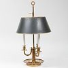 Louis XVI Style Brass and Tôle Bouillotte Lamp