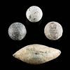4 Assorted Roman, Spanish, & French Lead Projectiles