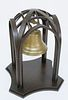 Large Antique Brass Bell in Contemporary Hanging Mount