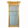 American gilt tabernacle pier mirror attributed to Waterhouse (1810)