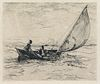 Etching by Frank Weston Benson (American, 1862-1951)