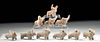Lot of 10 Ancient Indus Valley Pottery Zebu Bulls