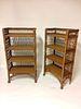 A Matched Pair of Bar Harbor Style Bookcases