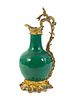 A Louis XV Style Gilt-Bronze-Mounted Chinese Porcelain Ewer Height 19 x width 9 inches.