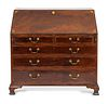 A George III Inlaid Mahogany Slant-Front Desk Height 42 1/2 x width 45 x depth 22 inches.