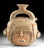Recuay Kaolin Pottery Portrait Vessel