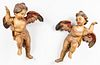 Continental Baroque Style Putti Sculptures, Pair