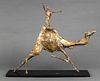 "Luise Kaish ""Figure Riding Camel"" Bronze, 1957"