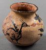 """Native American Zia Pueblo """"Turkey"""" Pottery Olla"""