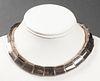 Vintage Antonio Pineda Taxco Silver Link Necklace