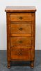 English Narrow Four Drawer Chest, Antique