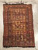 "Antique Caucasian Rug, 4' 2"" x 2' 11"""