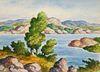 BIRGER SANDZEN (1871-1954) WATERCOLOR ON PAPER