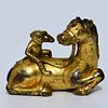 A Bronze Horse and Monkey Paper Weight