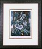 """""""The Blue Passion Flower.""""--Framed Aquatint"""