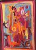 Stunning Abstract Gouache Painting by John Ulbricht 1949