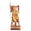 19th c. Chinese Wood Carved Guardian Figure