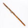 Civil War Era 19th c. Boxwood Brass Flute 8-Key