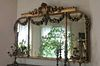French Stunning Ornate Antique Gold Leaf Mirror