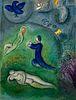 Marc Chagall: 'Daphnis and Chloé'. Original colour lithographs, 1961. Framed.