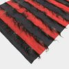 Red & Black Striped Rug With Goat Hair