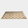 Square Tile Brown Rug