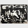 Murray Hantman (1904-1999): Sumi Ink; and Untitled