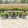 Set of Faux Bois Composition Garden Furniture